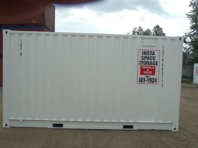 15' Steel Storage Container Right Side