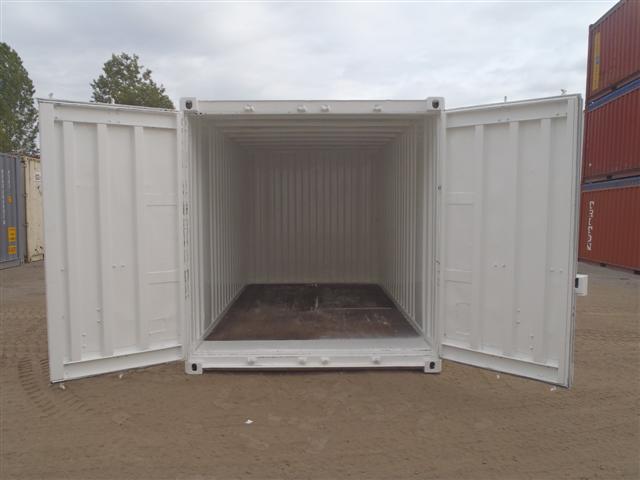 15' Steel Storage ContainerDoor end open