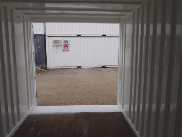15' Steel Storage Container Interior looking out