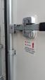 10 Foot Reefer Safety Lock Mechanism - Exterior